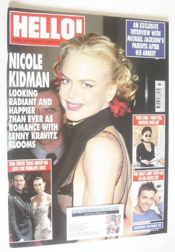 <!--2003-12-02-->Hello! magazine - Nicole Kidman cover (2 December 2003 - I