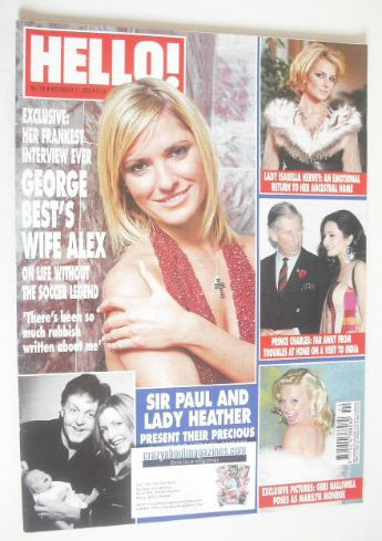 <!--2003-11-11-->Hello! magazine - Alex Best cover (11 November 2003 - Issu