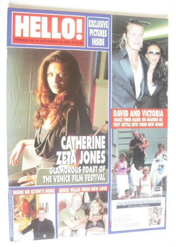<!--2003-09-16-->Hello! magazine - Catherine Zeta Jones cover (16 September