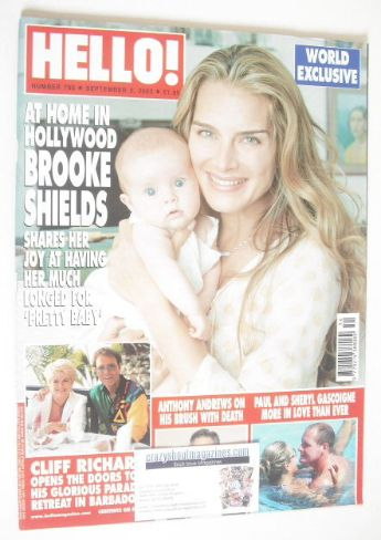 <!--2003-09-02-->Hello! magazine - Brooke Shields cover (2 September 2003 -