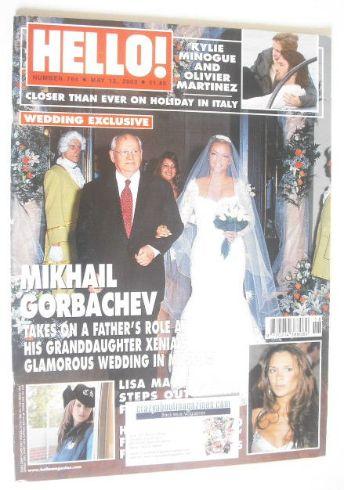 <!--2003-05-13-->Hello! magazine - Mikhail Gorbachev and Xenia cover (13 Ma