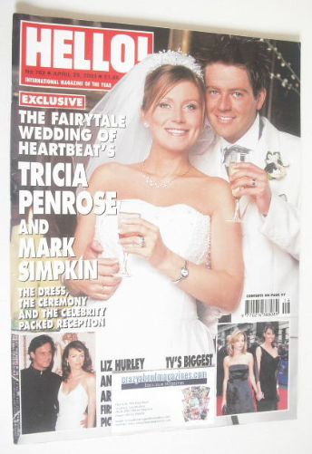 <!--2003-04-29-->Hello! magazine - Tricia Penrose wedding cover (29 April 2