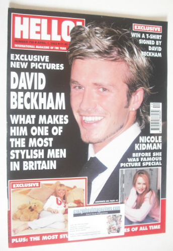 <!--2003-04-01-->Hello! magazine - David Beckham cover (1 April 2003 - Issu