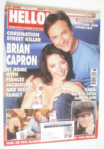 <!--2003-03-25-->Hello! magazine - Brian Capron cover (25 March 2003 - Issu