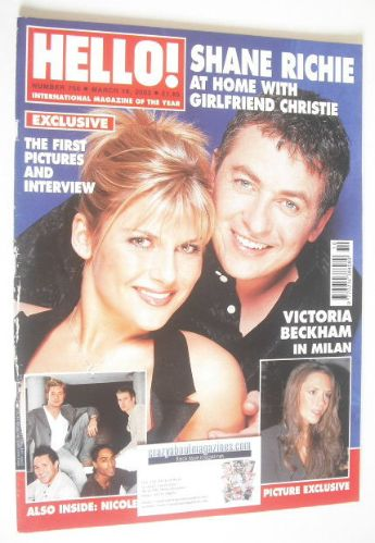 <!--2003-03-18-->Hello! magazine - Shane Richie and Christie Goddard cover