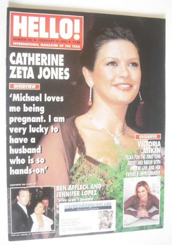 <!--2003-02-18-->Hello! magazine - Catherine Zeta Jones cover (18 February