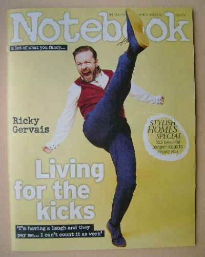 <!--2014-04-13-->Notebook magazine - Ricky Gervais cover (13 April 2014)