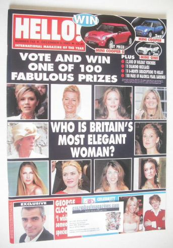<!--2002-12-03-->Hello! magazine - Who Is Britain's Most Elegant Woman cove