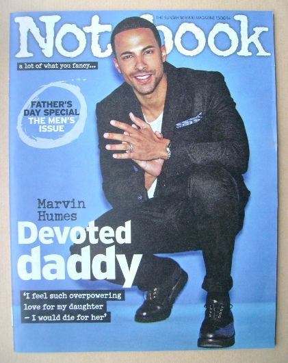 <!--2014-06-15-->Notebook magazine - Marvin Humes cover (15 June 2014)