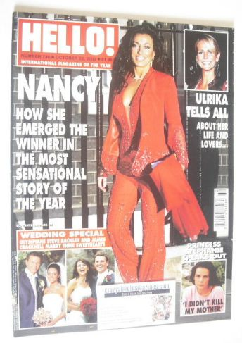 <!--2002-10-22-->Hello! magazine - Nancy Dell'Olio cover (22 October 2002 -