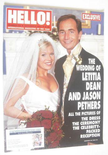 <!--2002-10-08-->Hello! magazine - Letitia Dean wedding cover (8 October 20