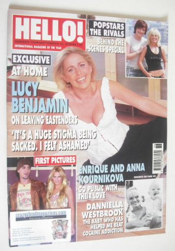<!--2002-09-10-->Hello! magazine - Lucy Benjamin cover (10 September 2002 -