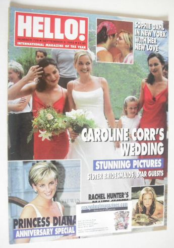 <!--2002-09-03-->Hello! magazine - Caroline Corr wedding cover (3 September