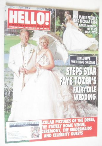 <!--2002-08-27-->Hello! magazine - Faye Tozer wedding cover (27 August 2002