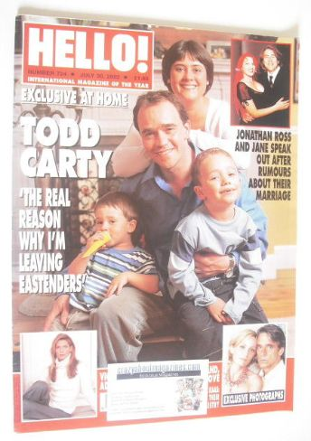 <!--2002-07-30-->Hello! magazine - Todd Carty cover (30 July 2002 - Issue 7
