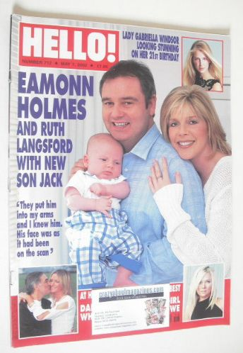 <!--2002-05-07-->Hello! magazine - Eamonn Holmes, Ruth Langsford and son Ja