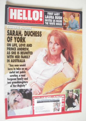 <!--2002-04-23-->Hello! magazine - Duchess of York cover (23 April 2002 - I