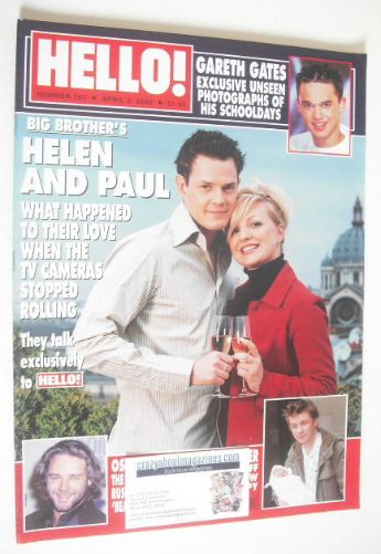 <!--2002-04-02-->Hello! magazine - Helen Adams and Paul Clarke cover (2 Apr