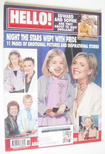 <!--2002-03-19-->Hello! magazine - Pride of Britain Awards cover (19 March