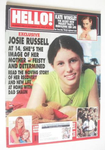 <!--2001-10-23-->Hello! magazine - Josie Russell cover (23 October 2001 - I