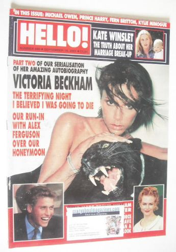 <!--2001-09-18-->Hello! magazine - Victoria Beckham cover (18 September 200