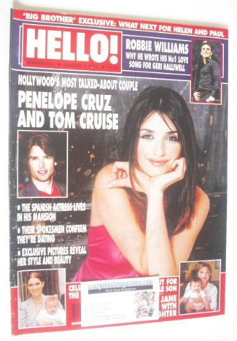 <!--2001-08-07-->Hello! magazine - Penelope Cruz cover (7 August 2001 - Iss
