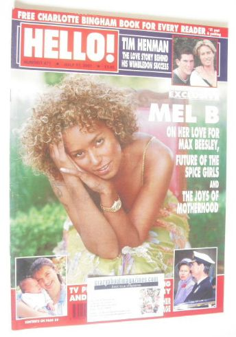<!--2001-07-17-->Hello! magazine - Mel B cover (17 July 2001 - Issue 671)