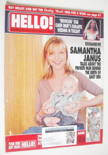 <!--2001-07-03-->Hello! magazine - Samantha Janus cover (3 July 2001 - Issu
