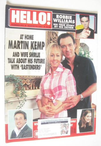 <!--2001-03-13-->Hello! magazine - Shirlie and Martin Kemp cover (13 March