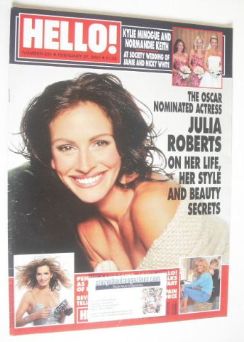 <!--2001-02-27-->Hello! magazine - Julia Roberts cover (27 February 2001 -