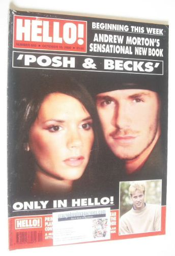 <!--2000-10-10-->Hello! magazine - David Beckham and Victoria Beckham cover