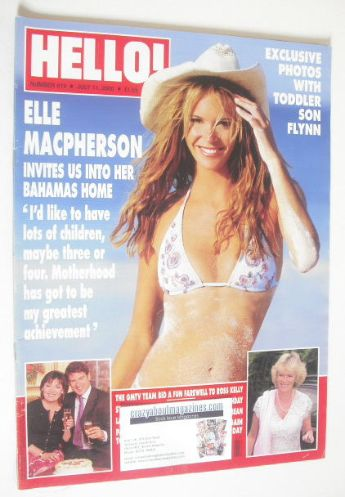 <!--2000-07-11-->Hello! magazine - Elle MacPherson cover (11 July 2000 - Is