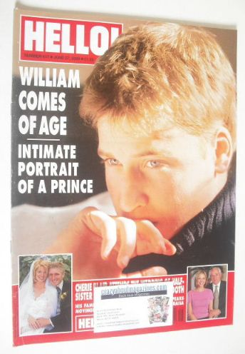 <!--2000-06-27-->Hello! magazine - Prince William cover (27 June 2000 - Iss