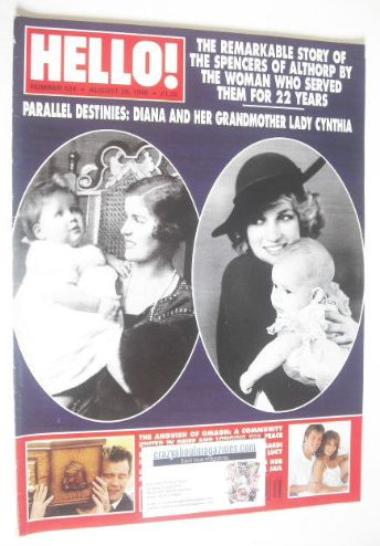 <!--1998-08-29-->Hello! magazine - Princess Diana and Lady Cynthia Spencer