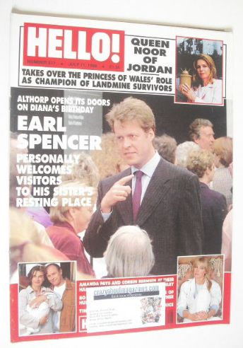 <!--1998-07-11-->Hello! magazine - Earl Spencer cover (11 July 1998 - Issue