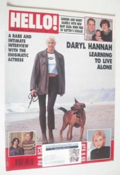 <!--1996-02-24-->Hello! magazine - Daryl Hannah cover (24 February 1996 - Issue 395)