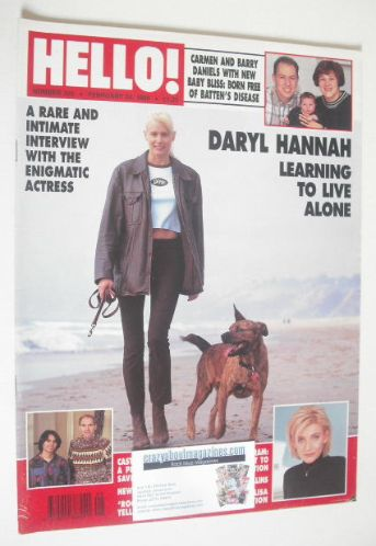 <!--1996-02-24-->Hello! magazine - Daryl Hannah cover (24 February 1996 - I