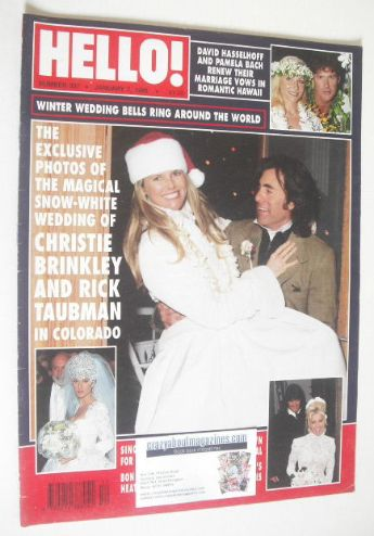<!--1995-01-07-->Hello! magazine - Christie Brinkley and Rick Taubman cover