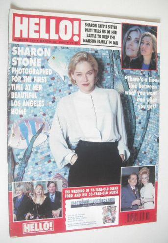 <!--1993-03-20-->Hello! magazine - Sharon Stone cover (20 March 1993 - Issu