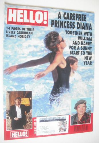 <!--1993-01-16-->Hello! magazine - Princess Diana cover (16 January 1993 -