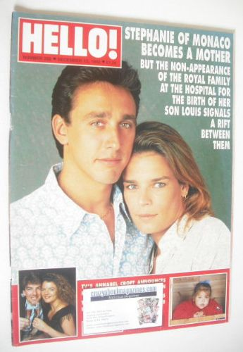 <!--1992-12-12-->Hello! magazine - Princess Stephanie and Daniel Ducruet co