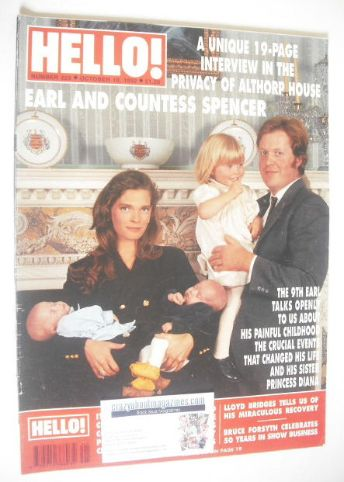 <!--1992-10-10-->Hello! magazine - Charles Spencer and Victoria Spencer cov