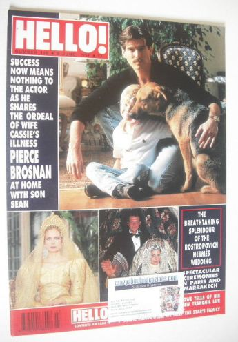 <!--1991-06-08-->Hello! magazine - Pierce Brosnan cover (8 June 1991 - Issu