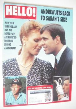Hello! magazine - Prince Andrew and Sarah Ferguson cover (30 July 1988 - Issue 11)