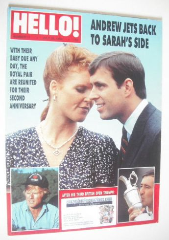 <!--1988-07-30-->Hello! magazine - Prince Andrew and Sarah Ferguson cover (
