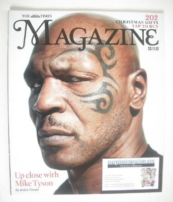 <!--2013-11-23-->The Times magazine - Mike Tyson cover (23 November 2013)