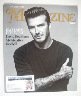 <!--2013-10-26-->The Times magazine - David Beckham cover (26 October 2013)