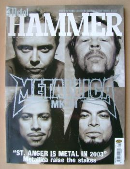 Metal Hammer magazine - Metallica cover (June 2003)
