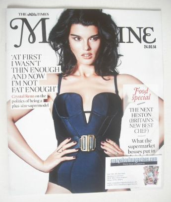 <!--2014-05-24-->The Times magazine - Crystal Renn cover (24 May 2014)