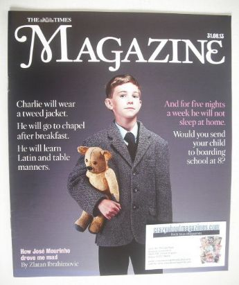 <!--2013-08-31-->The Times magazine - Boarding School At Eight cover (31 Au